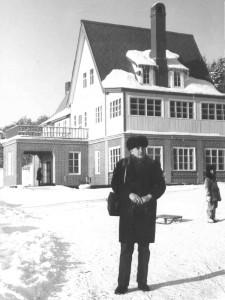"""Достопримечательность """"Горного воздуха"""" - домик в альпийском стиле. 1970-е годы."""