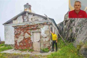 Старт забега у стен старого маяка на мысе Елизаветы.