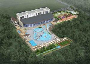 Будущая гостиница с водным комплексом.