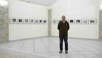 А. Мякишев на открытии выставки.