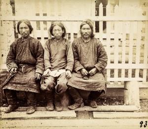 Нивхи. Конец  XIX века.  Фото Бронислава Пилсудского.