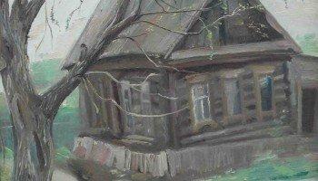 """В. Вечканов.  """"отчий дом"""". 1986 г."""