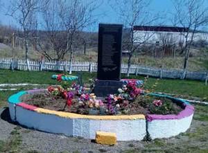 Сквер Памяти в селе Поречье Углегорского района.