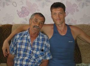 Федор Флокосу с отцом.