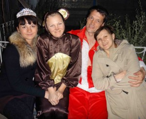 С сестрами в Краснодарском крае.